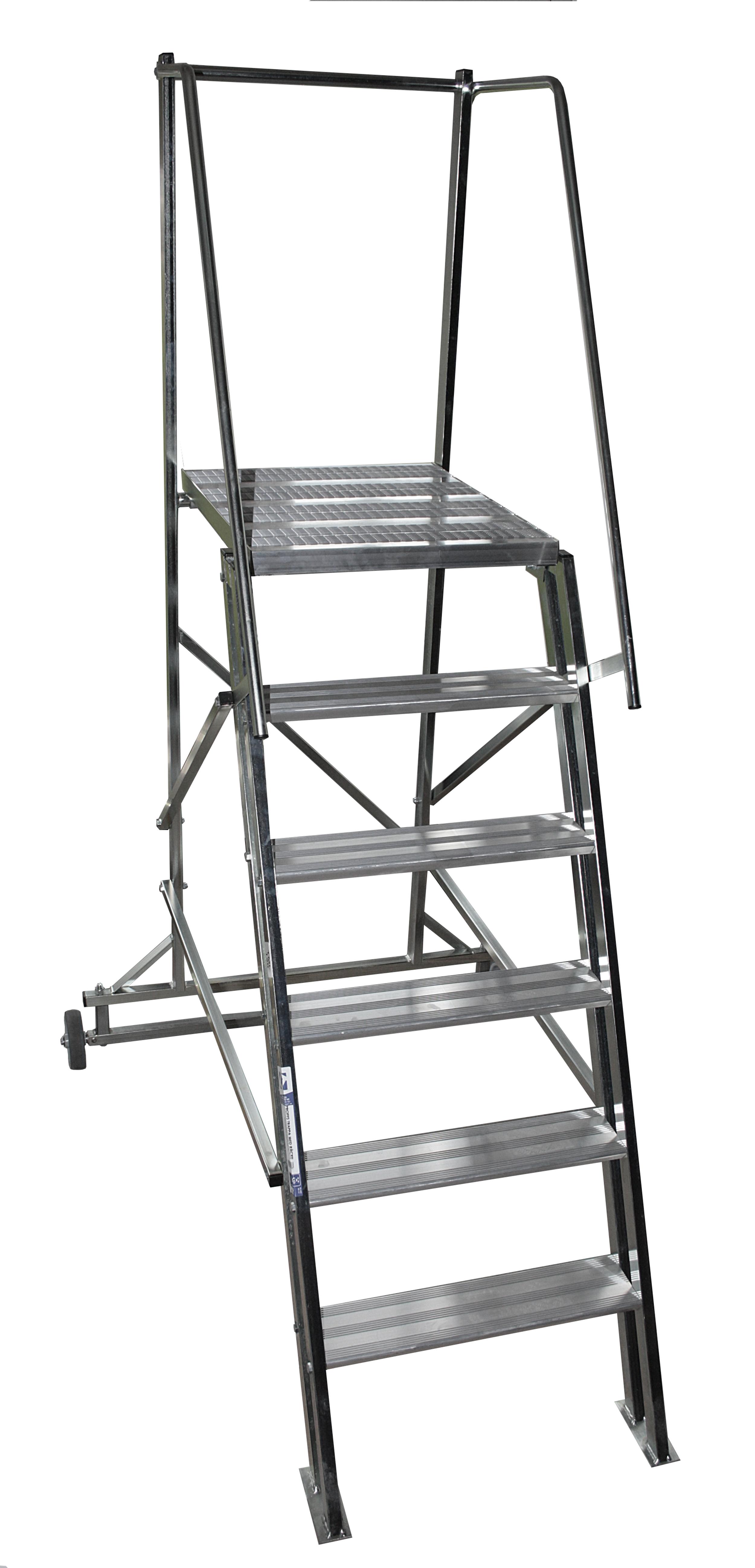 aluminiumtrappa med skyddsr u00e4cke
